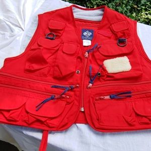 Red fishing vest by Columbia